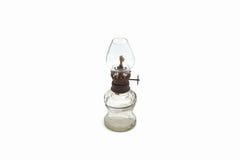 Старая пылевоздушная изолированная масляная лампа Стоковые Изображения