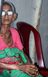 Старая племенная дама Стоковая Фотография RF
