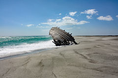 Старая развалина #1 корабля: Остров Masirah, Оман Стоковое фото RF