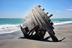 Старая развалина #3 корабля: Остров Masirah, Оман Стоковое Изображение RF