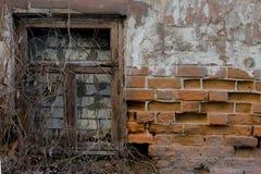 Старая разрушенная стена стоковые фотографии rf
