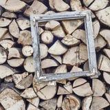 Старая рамка окна Стоковая Фотография
