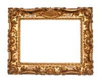 старая рамки золотистая Стоковые Изображения