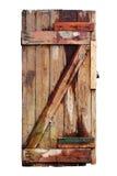 Старая распаденная деревянная дверь. Изолировано Стоковые Изображения RF