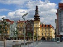 Старая ратуша на квадрате Masaryk в здание музея Остраве, сегодняшнее Остраве стоковые изображения rf