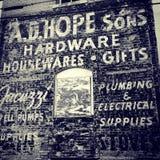 Старая реклама здания Стоковая Фотография