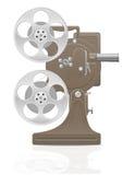 Старая ретро винтажная иллюстрация вектора репроектора фильма кино Стоковое Изображение RF