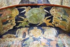Старая религиозная картина в Москве Кремле Фото цвета Стоковые Фотографии RF