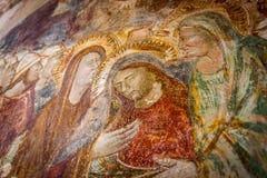 Старая религиозная фреска Стоковое фото RF