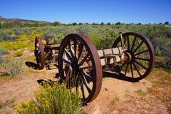 Старая реликвия колеса телеги Стоковые Изображения