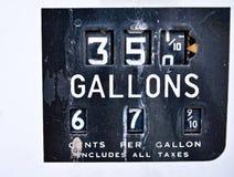 Старая ржавая американская панель газового насоса Стоковое Изображение RF