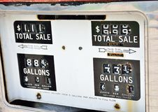 Старая ржавая американская панель газового насоса Стоковое Фото