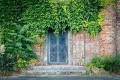 Старая ржавая дверь бункера Стоковые Фотографии RF