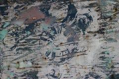 Старая ржавая дверь металла с текстурой отказов, ржавчины и свободных частей пакостной Стоковые Фото