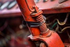 Старая ржавая панель с пылью и паутинами вокруг Стоковые Фотографии RF