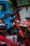 Старая ржавая панель с пылью и паутинами вокруг Стоковая Фотография