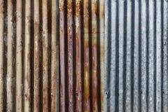 Старая ржавая предпосылка текстуры плиты оцинкованной стали Цинк Grunge Стоковое Изображение RF