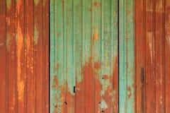 Старая ржавая стена плиты цинка, старая картина и ржавая плита цинка Стоковые Изображения RF