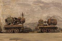 Старая ржавая тележка шахты Стоковая Фотография RF