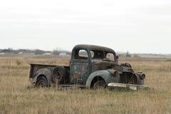 Старая ржавая тележка Стоковое фото RF