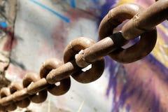 Старая ржавая цепь Стоковые Изображения RF