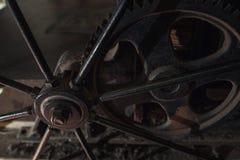 Старая ржавая шестерня металла, конец-вверх Стоковое Изображение RF