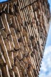 Старая римская кирпичная кладка, Рим, Италия Стоковое фото RF
