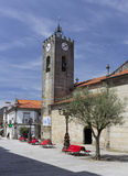 Старая римская церковь Ponte de Лимы Стоковые Фотографии RF