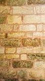 Старая розовая каменная стена Стоковые Изображения