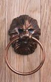 Старая ручка двери, головка льва стоковые изображения rf
