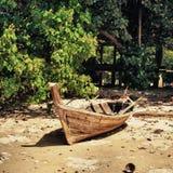 Старая рыбацкая лодка Стоковое Фото