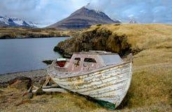 Старая рыбацкая лодка Стоковые Фото