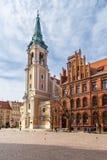 Старая рыночная площадь в Торуне, самый старый город в Польше стоковые фотографии rf