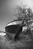 Старая сброшенная рыбацкая лодка Стоковое Изображение RF