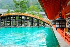 Старая святыня на префектуре miyajima Стоковая Фотография RF