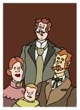 Старая семья Стоковое Изображение