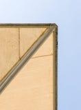 Старая сень холста с рамкой белизны металла Стоковые Изображения