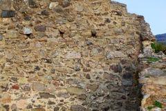 Старая серая каменная стена, предпосылка Стоковое Изображение
