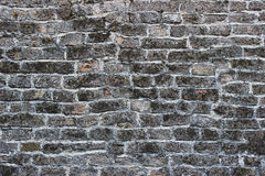 Старая серая стена кирпичей стоковые изображения rf