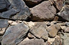Старая серая стена серых камней! стоковые изображения rf