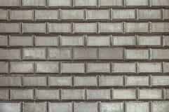 Старая серая текстура предпосылки кирпичной стены плитки стоковая фотография