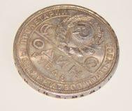 Старая серебряная монета один рубль СССР в 1924 Стоковое Фото