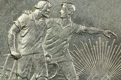 Старая серебряная монета Стоковые Фото