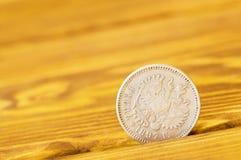 Старая серебряная монета Стоковые Изображения