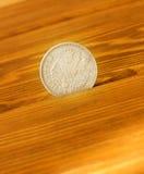 Старая серебряная монета Стоковое Фото