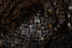 Старая серебряная предпосылка браслета Стоковые Изображения RF