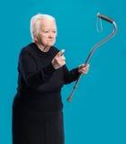Старая сердитая женщина Стоковые Фотографии RF