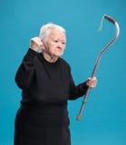 Старая сердитая женщина Стоковое фото RF