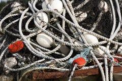 Старая сеть рыболова Стоковая Фотография