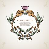 Старая симметрия цветка, цвет, старая рамка, бесплатная иллюстрация